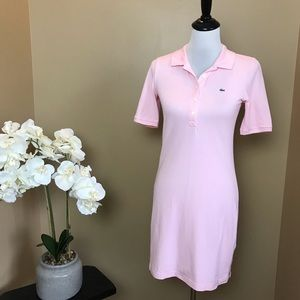 Lacoste Pink Polo Shirt Dress 36 French or Size 4
